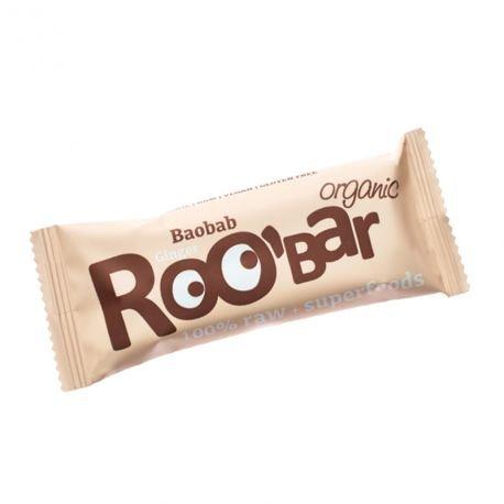 ROO'BAR Baobab & Ingwer - Rohkost-Riegel mit Superfoods (bio, vegan, glutenfrei, roh) (50g)