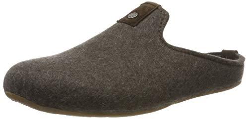 Haflinger Unisex-Erwachsene Lykke Pantoffeln, Braun (braunmeliert 63), 39 EU