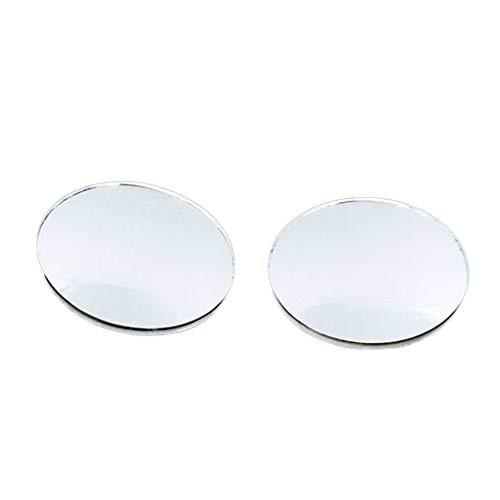 Meisijia 1pcs / 2pcs Blind Spot Miroir Grand Angle latéral Voiture sans Cadre réglable 360 degrés Rond en Verre