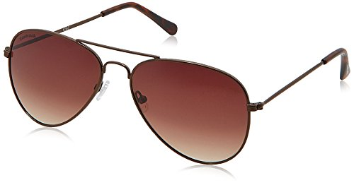 Fastrack UV Protected Aviator Men's Sunglasses - (M138BR2|Brown Color)