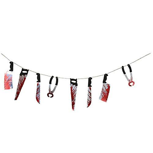 Halloween Scary Blutigen Banner Hängen Bunting Garland Dekoration Prop Tür Party Supplies-Zeichen -