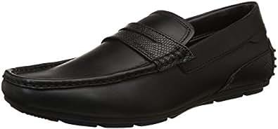 BATA Men's Calvino Black Loafers - 10 UK/India (44 EU)(8546027)