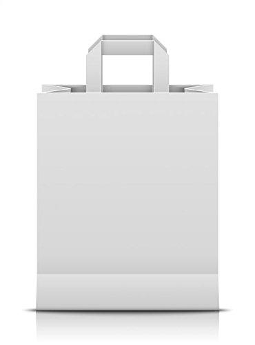 Papier-Tragetasche weiß 22 + 10 x 28 cm 25 Stück