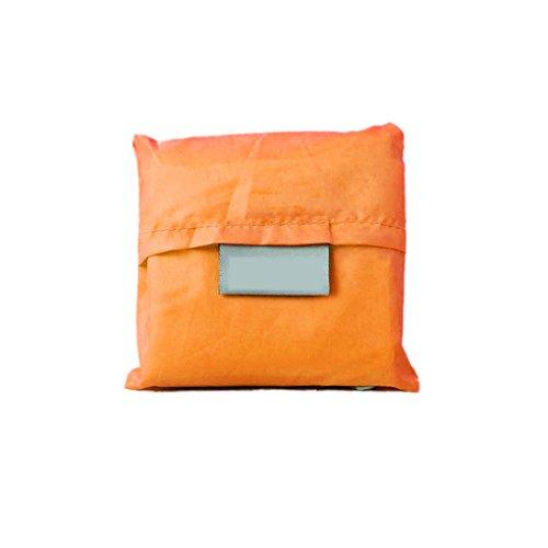 QHGstore Unisex wiederverwendbare faltbare Einkaufstasche Tasche Handtasche Orange