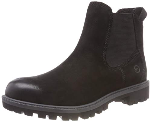 Tamaris Damen 25401-21 Chelsea Boots, Schwarz (Black Uni 7), 39 EU