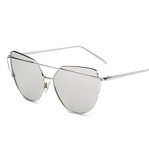 LIUYIAO Damen Sonnenbrillen Sonnenbrillen Damen Europa Und Die Vereinigten Staaten Flut Outdoor UV Driving Sonnenbrillen Round Face Star Models Sonnenbrillen Cat Eyes,Gray