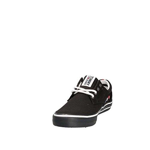 Baja Hombre De negro Negro Tommy Jeans Textil 990 Zapatilla Zapatillas Deporte PxYw7p