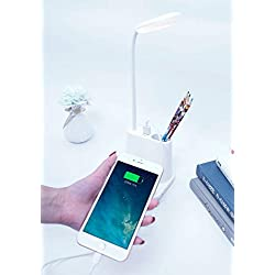 USB Rechargeable LED Desk Lamp Touch Dimming Adjustment Table Lamp for Children