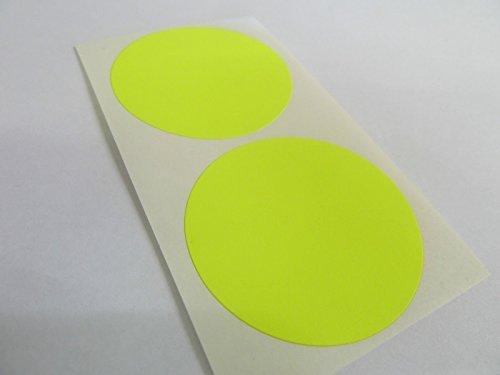 50mm (5.1cm) Redondo Código De color Pegatinas - Paquetes de 20 de color Circular Etiquetas Adhesivas - 28 Colores Disponible - Fluorescente Amarillo Brillante