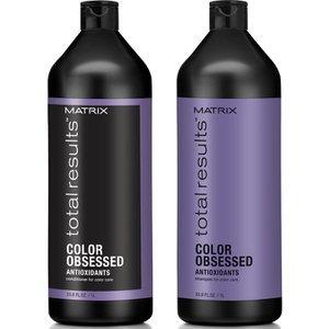 MATRIX Kit Total Results Color Obsessed Shampoo 1000ml e Balsamo 1000ml