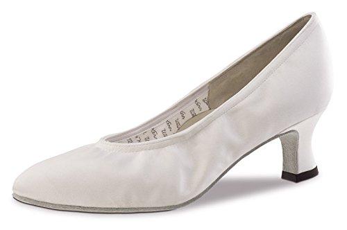 Werner nucléaire-Laura Danse chaussures femme 5 Satin Weiß