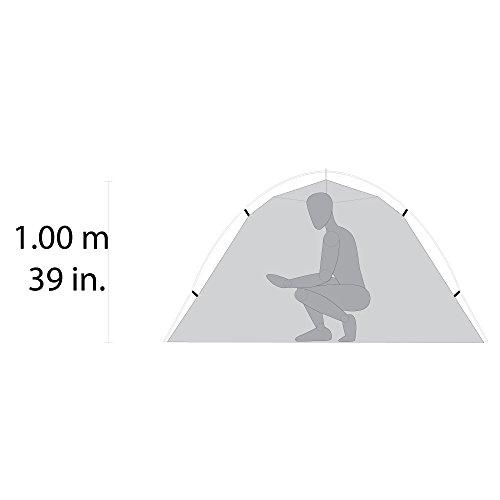 MSR Hubba Hubba NX - ultraleichtes Zelt für zwei Personen, nur 1,9 kg - Farbe: hellgrau -