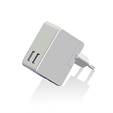 V.TOP UC242 2.4A 12W Universal Travel Wall Charger AC Power Adapter with 2 USB Ports (Blanc)