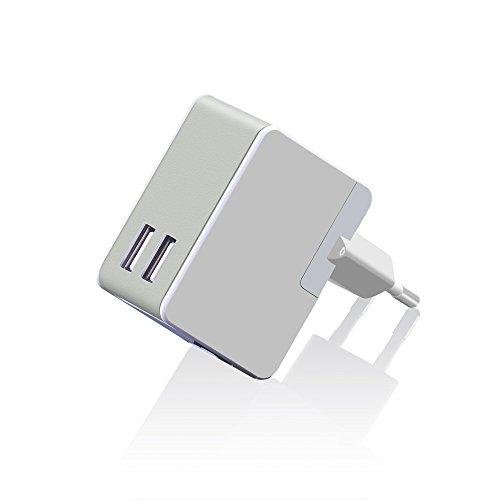 2.4A 12W Universal Travel Wall Charger AC Power Adapter with 2 USB Ports for Iphone 6s / 6 / 6 Plus,ipad Air 2/mini 3, Galaxy S6/s6 Edge/plus and More