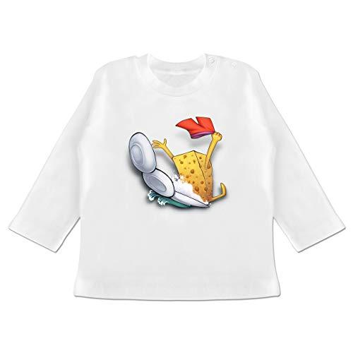 Up to Date Baby - Spülschwamm - Wasserrutsche - 12-18 Monate - Weiß - BZ11 - Baby T-Shirt Langarm