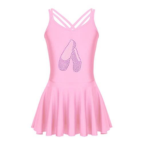 Tanz Kostüm Muster Mädchen - iEFiEL Kinder Ballettkleid Ärmellos Ballettanzug mit