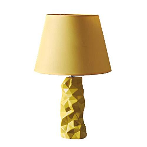 Schlafzimmer Nachttisch Gelb Tischlampe Kreative Keramik Einfache Moderne Mode Niedlich Warm (Gelb Moderne Keramik-tischlampe)