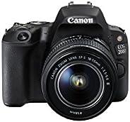 Canon EOS 200D 18-55 III DSLR Camera Lens Kit - Black