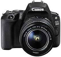 Canon 200D BK 18-55 EU26 Appareil photo numérique 25.8 Mpix Zoom optique 10 x Bluetooth/NFC/Wi-Fi Noir