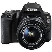 Canon EOS 200D + EF-S 18-55mm f/3.5-5.6 III SLR-Kamera-Set 24.2MP CMOS 6000 x 4000Pixel Schwarz, 2250C011