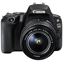 Canon EOS 200D Fotocamera Digitale Reflex con Obiettivo EF-S 18-55mm f/3.5-5.6 DC III, Nero