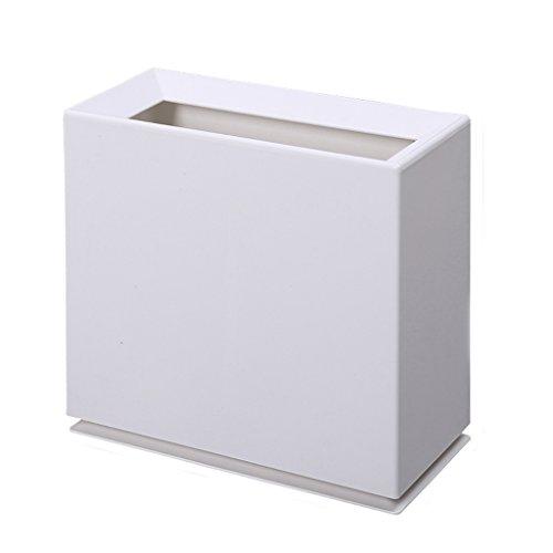DTH Mülleimer Bin Haushalt Badezimmer Unshred Kunststoff Wohnzimmer Körbe Kreative Große Küche Mülleimer (Farbe : Weiß) (White Wicker Mülltonne)