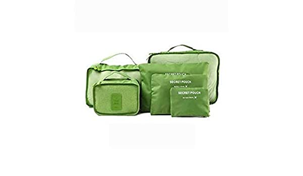 Honana HN-TB8 6Pcs Waterproof Travel Storage Bags Packing Cube Clothes Pouch Luggage Organizer