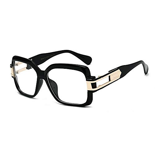 Yiph-Sunglass Sonnenbrillen Mode Metallic Big Frame UV-Schutz Sonnenbrillen für Frauen Männer Farbige Linse Outdoor Fahren Reisen Sommer Strand (Farbe : C6)