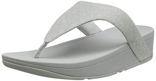 FitFlop Damen Lottie Toe Post - Holiday Glitz Sandalen, Silber (Silver 011), 40 EU Damen Post