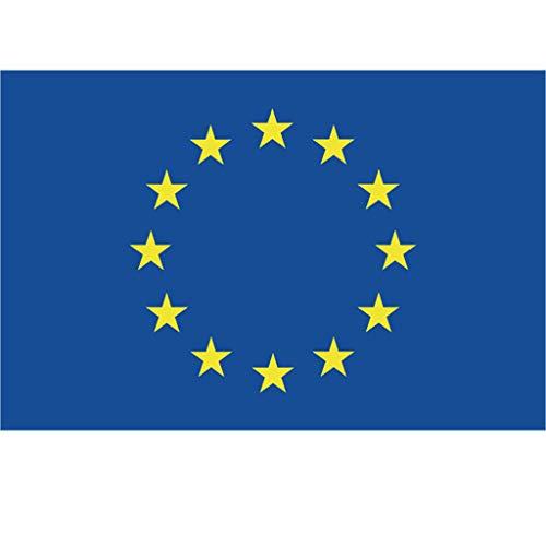 Tianya Bandera de la UE adecuada para el diseño de interiores al aire libre (Impermeable y no se Descolora)-8.3 x 5.5 pulgadas