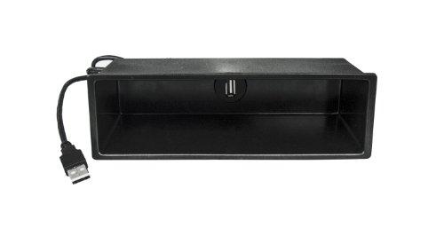 Watermark # 5072# KFZ DIN Radio Ablage mit USB Buchse Stecker Verlängerung