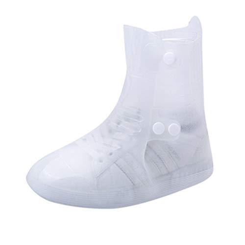 Regenüberschuhe Wasserdicht Schuhe (1Paar) / Skxinn Outdoor Rutschfester Regen Überschuhe Regenüberschuhe, Perfekt Wandern und Fahrradfahren,Größe 37-46 Ausverkauf(Weiß,42-43 CN)