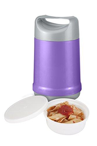 Isolier Speisegefäß 1,2 Liter mit Portionseinsatz Thermobehälter Lila Material spannungsfrei Foodbehälter stossfest entsprechend