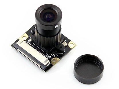 Waveshare Raspberry Pi Camera (F) 5MP OV5647 Night Vision Camera Module Kit Webcam Video 1080p for Any Version of Raspberry pi Model A/A+/B/B+/2 B/3 (3 Modul Kit)