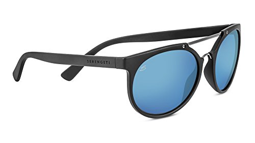 Serengeti Lerici Lunettes de soleil Lerici Sanded Dark Grey/Satin Dark Gun Polarized 555nm Blue