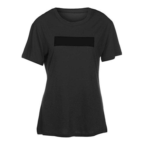 KanLin Damen Lose Casual Bluse Shirt Tops Sommer T-Shirt Grau