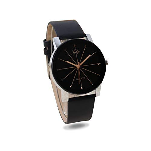 Talgo Analogue Black Dial Black Leather Strape Quartz Movement Women  s  Watch - 5049 90fd02b1f9
