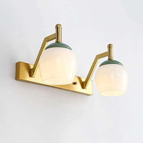 YJFFAN Europäischen Stil Badezimmerspiegel Licht Moderne Home Spiegel Scheinwerfer Glas Schatten Spiegel Frontleuchten für Make-Up, Schminktisch Spiegel Lichter,A