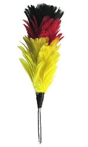 152-cm-feder-hackle-schwarz-rot-und-gelb-perfekt-fur-schottische-glengarry-hat-motorhaube