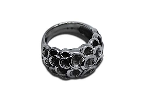 Damenring Sterling Silber 925 Massiv Unikat Ring Schmuck s0659 Silber Größe 62 (19.7)