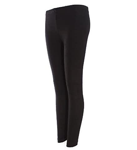 Plain Leggings - Long - Full Length -Available in a Wide Selection of Colours and Sizes - Black - (Size M / L)