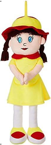 Amazon Brand - Jam & Honey Huggable Doll, Yellow, 5