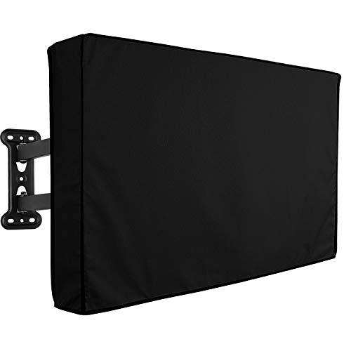 NONMON Copertura TV Impermeabile per Televisori LCD LED PLASMA 46' - 48', Protezione Universale per TV per Uso Interno o Esterno, Nero