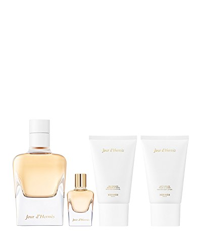 Hermes - Jour D'hermes Set - 85ml Eau De Parfum Spray + 30ml Bodylotion + 30ml Showergel + 7,5ml EDP Mini by Hermes (Ml Spray Mini 7,5)