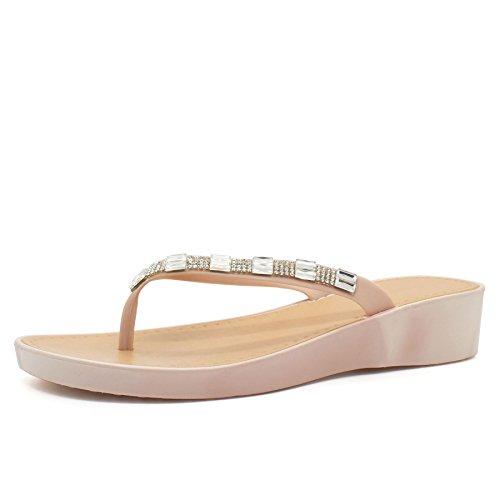 London Chaussures - Retro Aperto Donna Nude