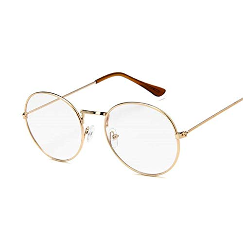 Jeewly Klassische Sportsonnenbrille, Vintage Round Sunglasses Women Retro For Women Small Mirror Sunglasses Oculos