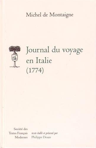 Journal du voyage en Italie (1774)