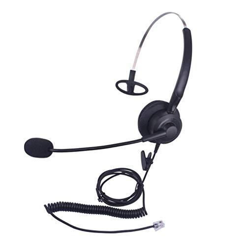 Callez Telefon Headset RJ9 Mono Mit Noise Cancelling Mikrofon, Call Center Kopfhörer Kabelgebundener Für Festnetztelefone Plantronics ShoreTel Polycom Nortel Norstar Meridian ROLM Packet8(C200A1) -