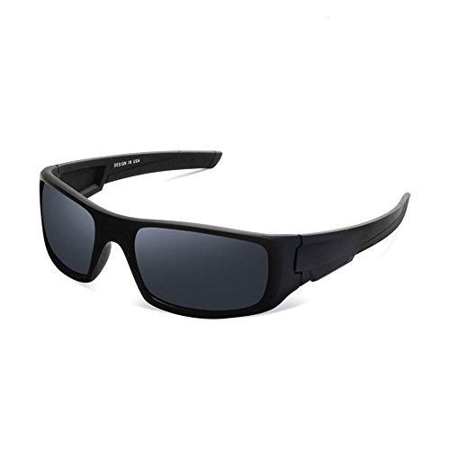 Herren und Damen Sonnenbrillen Polarisiert Unisex Brille Überbrille für Brillenträger Fit-over (A)