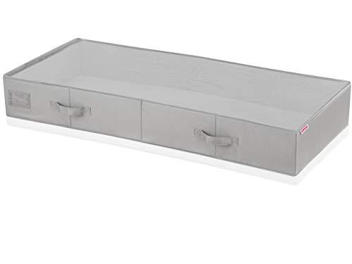 Leifheit 80012 Tiroir de lit grande tissu Gris 16 x 46 x 5 cm Petit